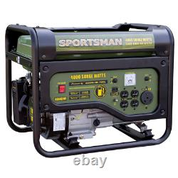 Portable Power Generator 4,000/3,500W Gas RV Outlet Heavy Duty Construction New