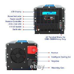 Power Inverter Modified Sine Wave 5000With10000W 12V to 110v120V USA Transistors