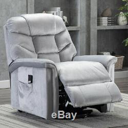 Power Lift Chair Recliner Waterproof Sofa Heavy Duty Seat Armchair Backrest withRC