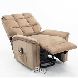 Power Lift Recliner Chair Sofa Bed Electric Lifting Armchair Heavy Duty Suede