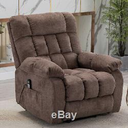Power Lift Recliner Chair with Heat & Massage for Elderly Heavy Duty Armchair US