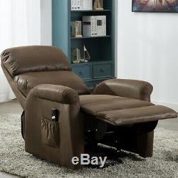 Power Lift Recliner Sofa Chair Heavy Duty Electric Tilt Reclining Control Lounge
