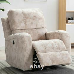 Power Recliner Chair Ergonomic Sofa Reclining with USB Padded Seat Heavy Duty