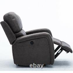 Power Recliner Electric Chair Usb Port Sofa Heavy Duty Living Room Padded Seat