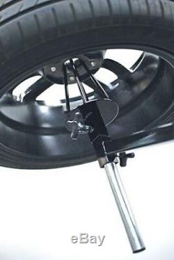 Power-Tec Wheel Painting Polishing Rotating Stand Deluxe Heavy Duty 4 Wheels