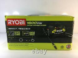 RYOBI Electric Pressure Washer 1600 PSI 1.2 GPM Clean Turbo Nozzle 35 FT Hose