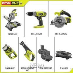 RYOBI Power Tool Combo Kit 18-Volt Lithium-Ion Cordless Heavy Duty (5-Tool)