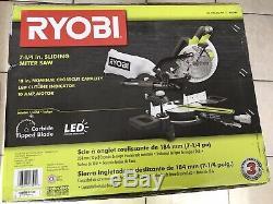 RYOBI Sliding Miter Saw 7-1/4 Inch Blade Dust Port Heavy Duty Motor Power # M433