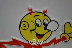 Reddy Kilowatt Power Light RUNNING SIGN ELECTRICIAN GIFT HEAVY DUTY DIE CUT