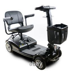 S01 250W 4-Wheel Compact Transportable Power Mobility Scooter, Black
