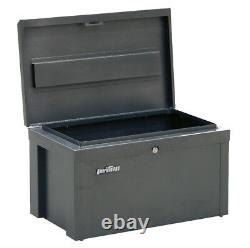 Sealey Power Tool Chest Safe Box Site 56x35x32cm Heavy Duty Steel With Lid Lock