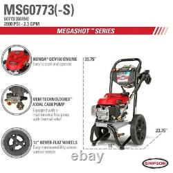 Simpson MegaShot MS60773-S 2800 PSI (Gas-Cold Water) Pressure Washer with Honda