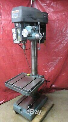 Single Phase Heavy Duty Ellis 16 Infinite Vari Speed Drill Press with Power Feed