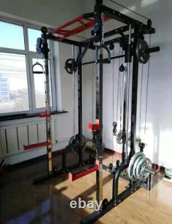 Squat Rack Power machine Home fitness workout station home gym 21 heavy duty