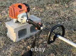 Stihl FS90R Trimmer / BRUSH CUTTER POWERFUL 28CC UNIT With New Blade Fast SHIP