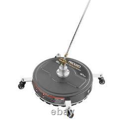 Surface Floor Cleaner Gas Pressure Power Washer Jets Rolling Wheels Round RIDGID
