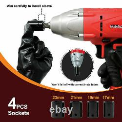 Toolman Corded Impact Wrench 6A 3200 RPM with 4pcs sockets for Heavy Duty NEW
