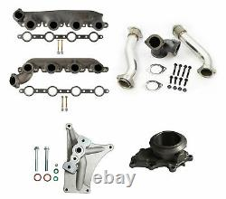 Turbo Pedestal Exhaust Housing Manifolds & Up Pipes For 1999.5-2003 Ford 7.3L