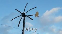 UK 6 blade powerful Avenger wind turbine Generator 24v or 48v heavy duty