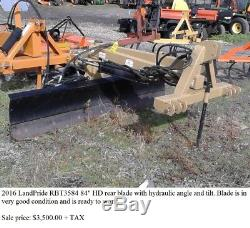 Used Land Pride RBT3584 7' heavy duty rear blade with power angle and tilt