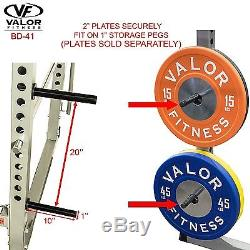 Valor Fitness BD-41 Heavy Duty Power Cage Rack with Band Pegs & without Lat Pull