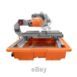 Wet Tile Saw 9 Amp Corded Stand Powerful Heavy Duty Motor Bevel Laser Guide Tool