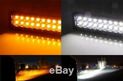 White Amber 120W LED Light Bar with Bracket/Wiring For 11-14 Silverado 2500/3500HD
