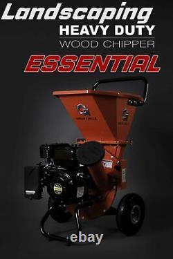 Wood Chipper Shredder Mulcher Heavy Duty 212cc Gas Powered 3 in 1
