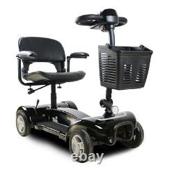 X01 4-Wheel Compact Transportable Power Mobility Scooter, Black